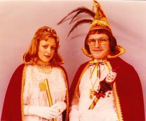 1977 Prinz Manfred I. (Manfred Müller) Prinzessin Christel I. (Christel Schmidt)