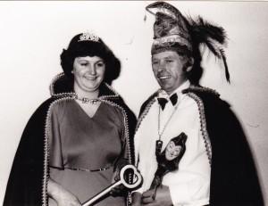 1980 Prinz Reinhold I. (Reinhold Schänzer) Prinzessin Gertrud I. (Gertrud Schänzer)